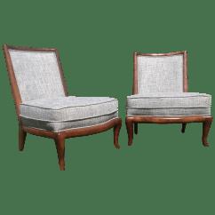 Modern Slipper Chair Patio Swivel Chairs Canada Mid Century Style A Pair Chairish