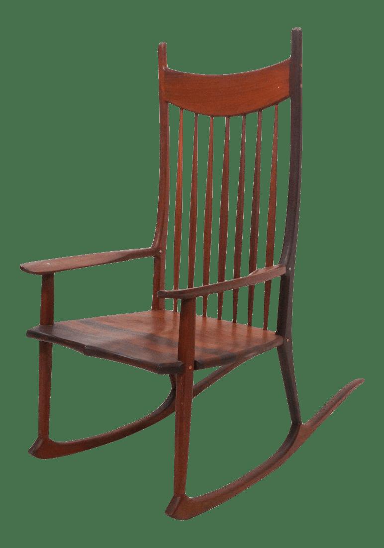 Tall Oversized American Craftsman Rocking Chair  Chairish