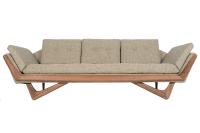 "Mid-Century Style ""Streamline"" Sofa in Walnut | Chairish"