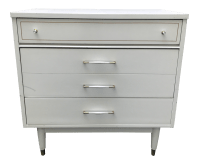 Mid-Century Modern White Nightstand | Chairish