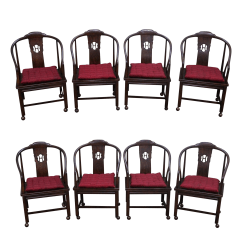 Henredon Chairs Dining Room Small Side Chair For Bedroom Elm Wood Set Of 8 Chairish