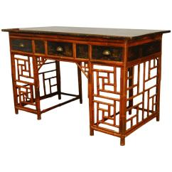 Colonial Sofa Sets India Ashley Claremore Reviews Chinese Lacquered Bamboo Chinoiserie Desk Chairish