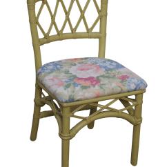 Ficks Reed Chair Bean Bag Chairs Cheap Walmart Vintage Painted Rattan Side Chairish