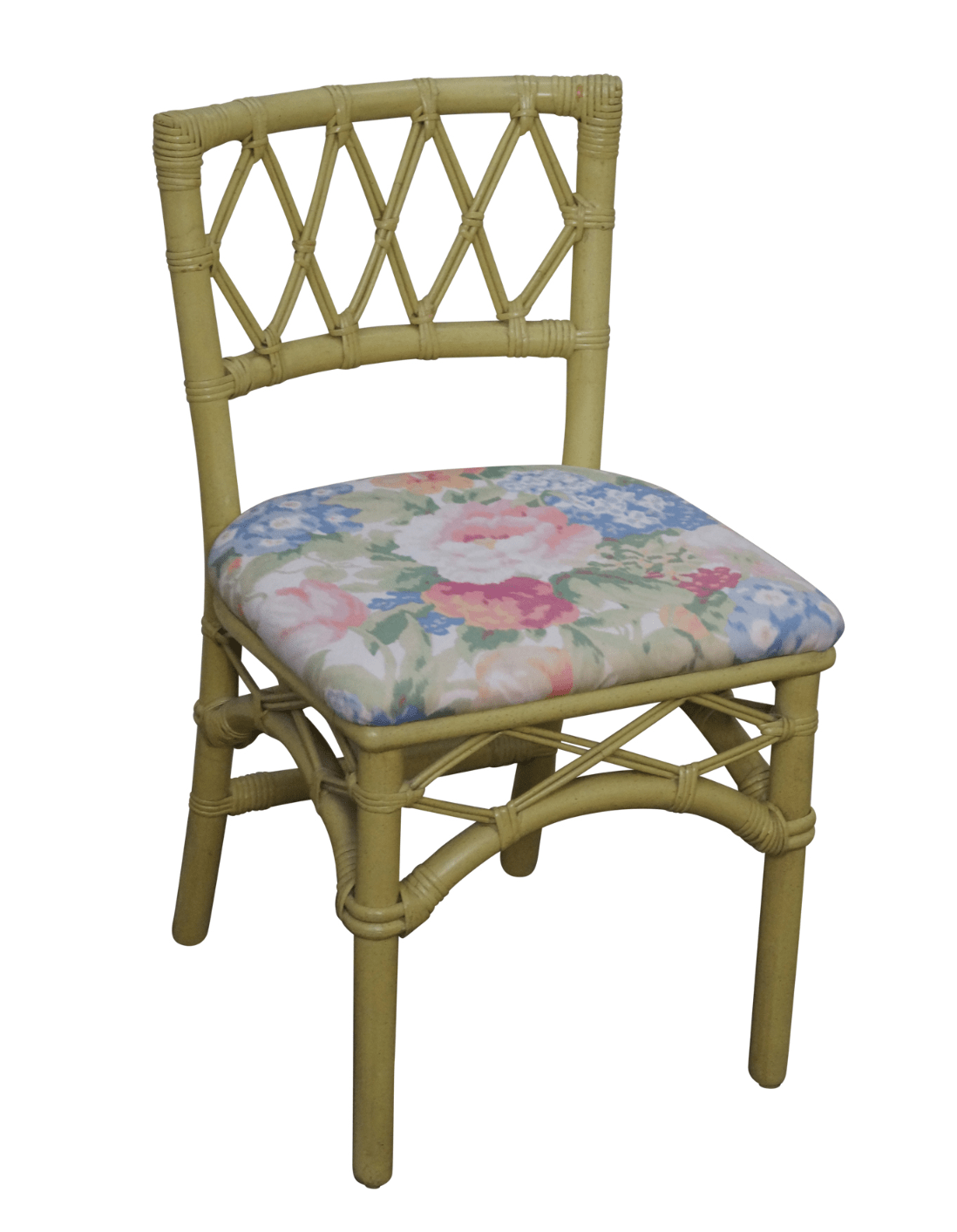 Wicker Side Chair Ficks Reed Vintage Painted Rattan Side Chair Chairish