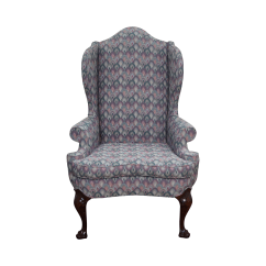 Queen Anne Wing Chair Power Wheelchair Accessories Bags Solid Mahogany By Southwood Chairish