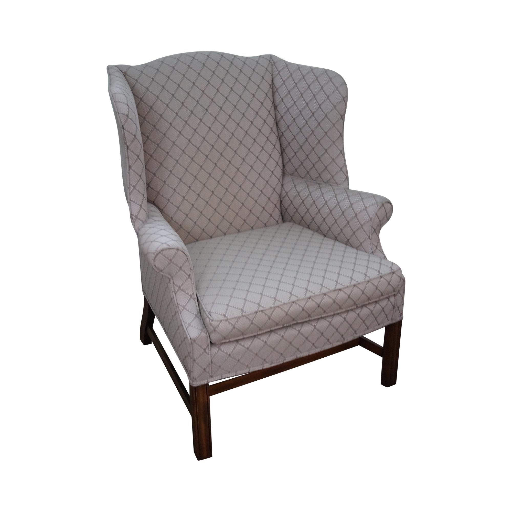 chippendale rocking chair bed furniture village vintage style wing chairish