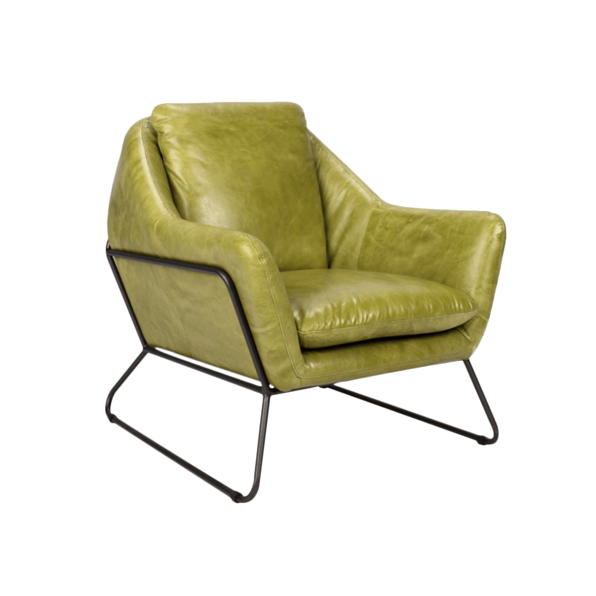 Lime Green Accent Chair Lime Green Leather Club Chair Chairish