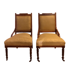 Victorian Parlor Chairs Hanging Chair For Room Antique A Pair Chairish