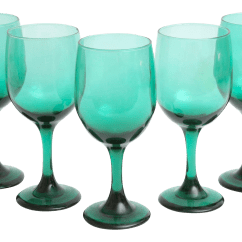 Where To Buy Outdoor Rocking Chairs Spool Chair Ethan Allen Dark Green Wine Glasses, Set Of 5 | Chairish