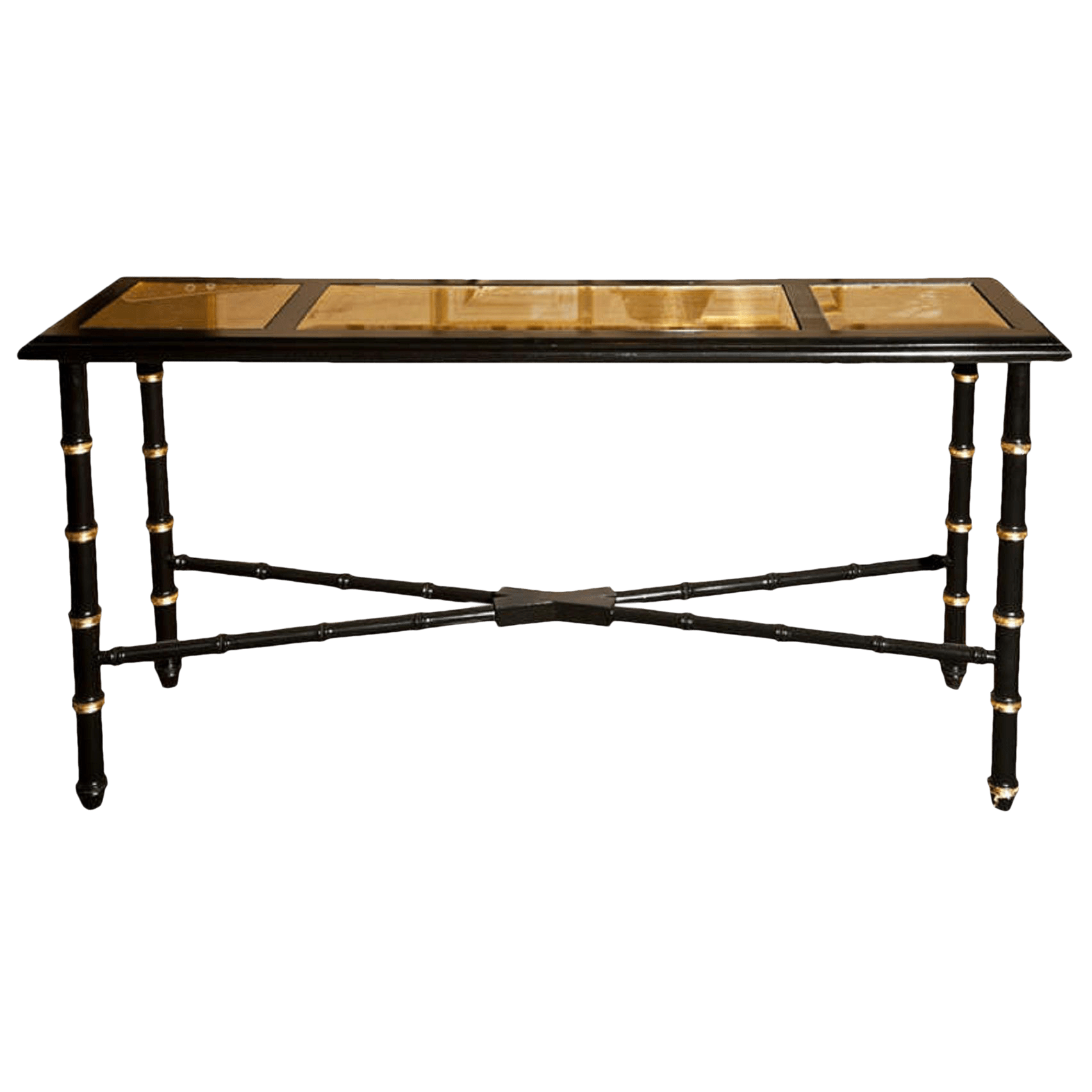 legare bamboo sofa table best cover for leather couch distinguished hollywood regency faux console