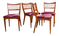 Mid Century Teak Spindle Back Dining Chairs - Set of 4 ...