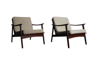 Mid Century Modern Yugoslavian Chairs - Pair | Chairish