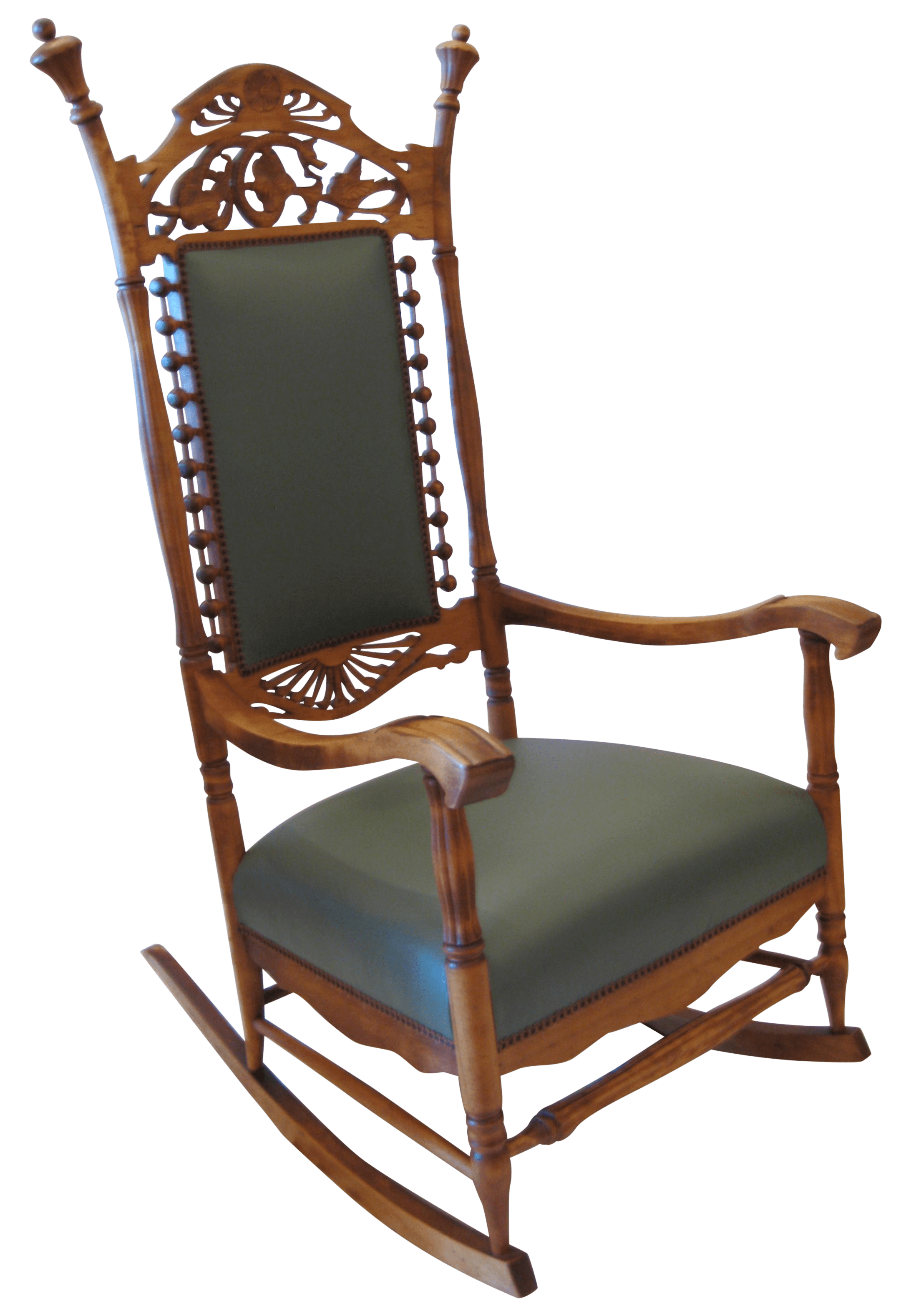 design within reach rocking chair swing ace hardware vintage carved wood chairish