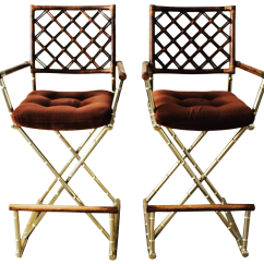 Bamboo Directors Chairs Ergonomic Chair With Head Support Great Set Of Hand Crafted