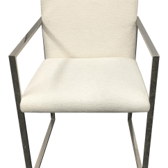 Steel Net Chair Chairs At Home Depot New Palecek Stainless Atlantic Arm Chairish
