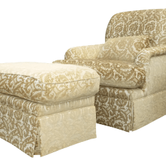 French Provincial Chair And Ottoman Potty Training Chairs Country Gold White Velvet Arm
