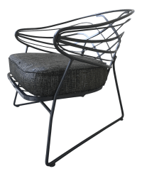 Mid-Century Wrought Iron Lounge Chair | Chairish