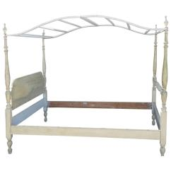 French Canopy Chair Ozark Trail Chairs With Footrest Bed Painted Country Style Chairish
