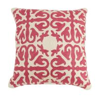 Crewel Embroidered Pillow | Chairish