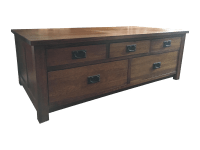Restoration Hardware Mule Chest Coffee Table | Chairish