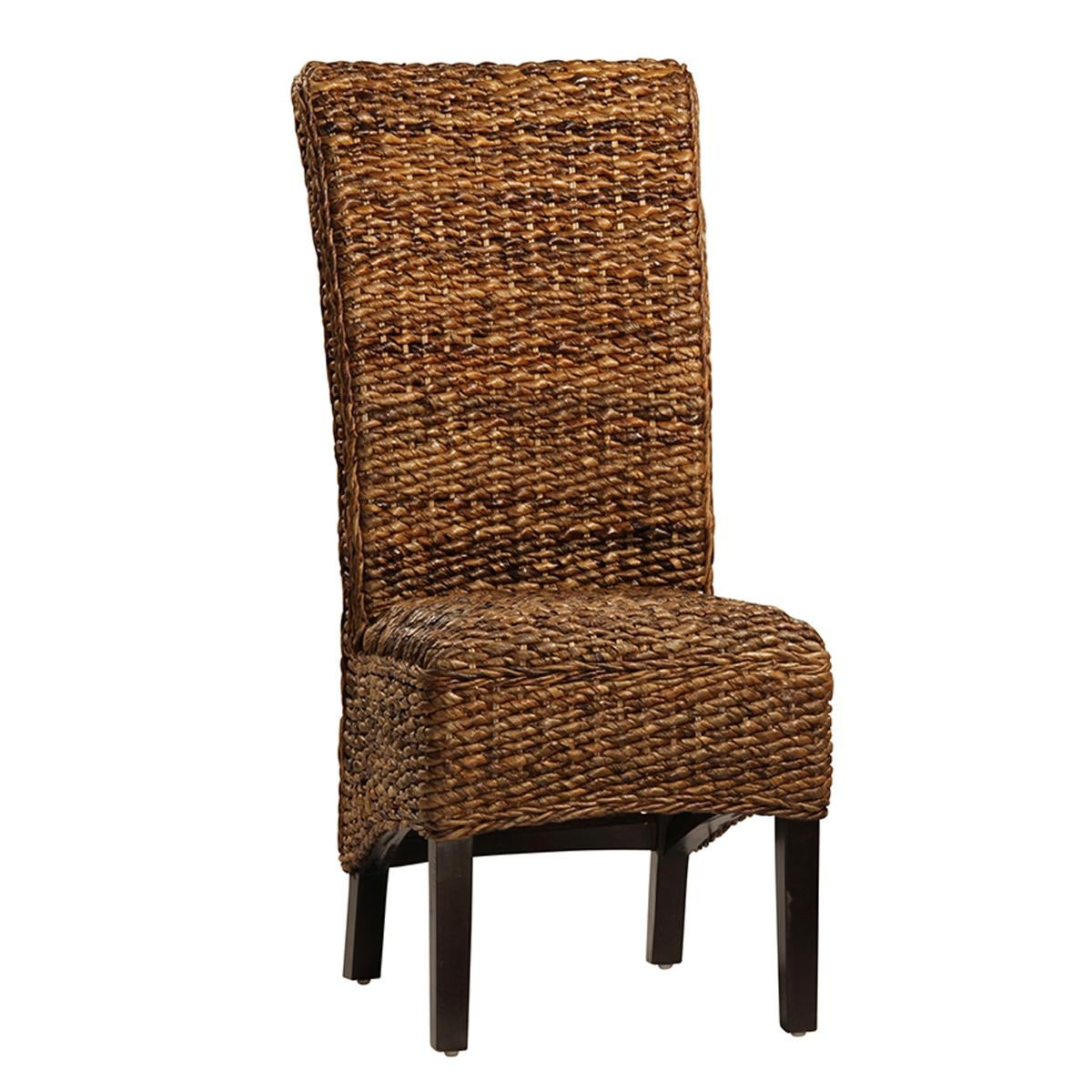 Banana Rocker Chair Dining Chair With Woven Banana Leaf Chairish