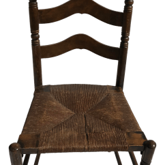 Antique Ladder Back Chairs With Rush Seats Weave Garden Seat Chair Chairish