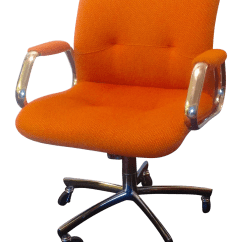 Steelcase Vintage Chair Wheelchair Jump Crash Panton Era In Orange Tweed Chairish