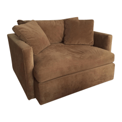 Microfiber Club Chair With Ottoman Lycra Covers Amazon Crate And Barrel Chairish