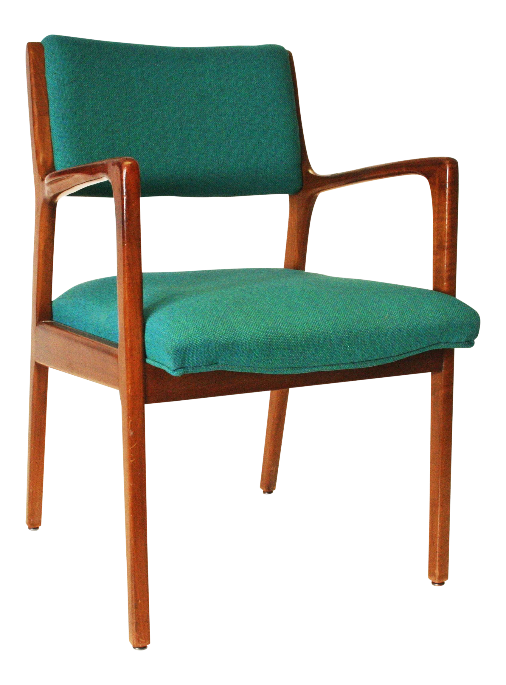 Teal Rocking Chair Danish Modern Teal Upholstered Office Chair Chairish