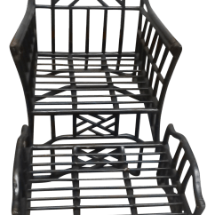 Chippendale Rocking Chair Covers For Classroom Style Rattan And Ottoman Chairish