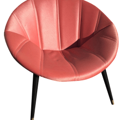 Oversized Saucer Chair Cheap Counter Height Chairs Melbourne Mid Century In Salmon Chairish