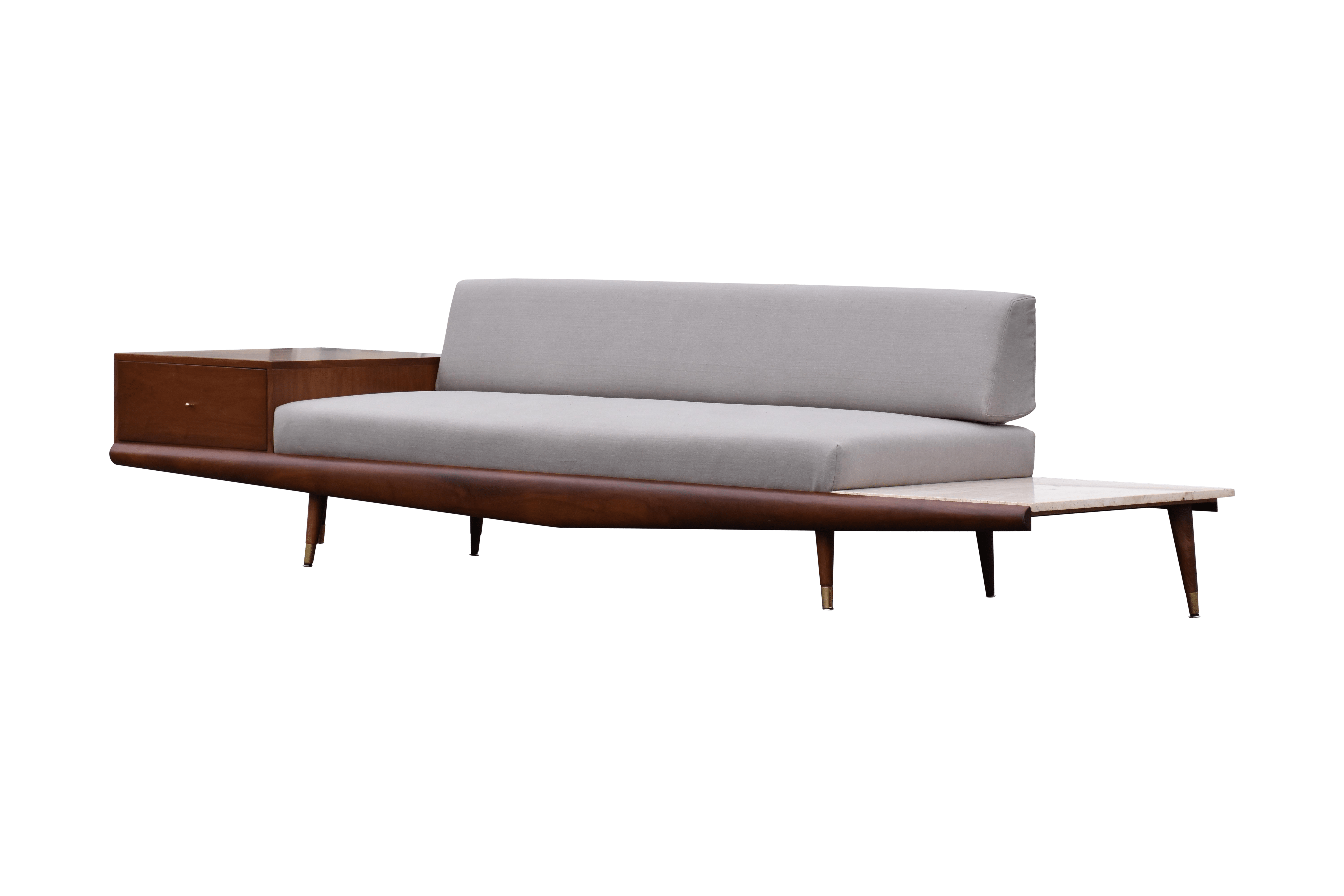 adrian pearsall chair bed pillow walnut and travertine sofa chairish