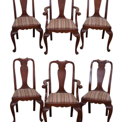 Queen Anne Dining Chair Glider Chairs For Nursery Henkel Harris Cherry 6 Chairish