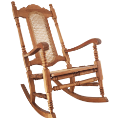 Design Within Reach Rocking Chair Osaki Massage Review Vintage Wood And Cane Chairish