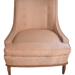 Pale Pink Chair Roman Fitness Depot Mid Century Modern Accent Chairish