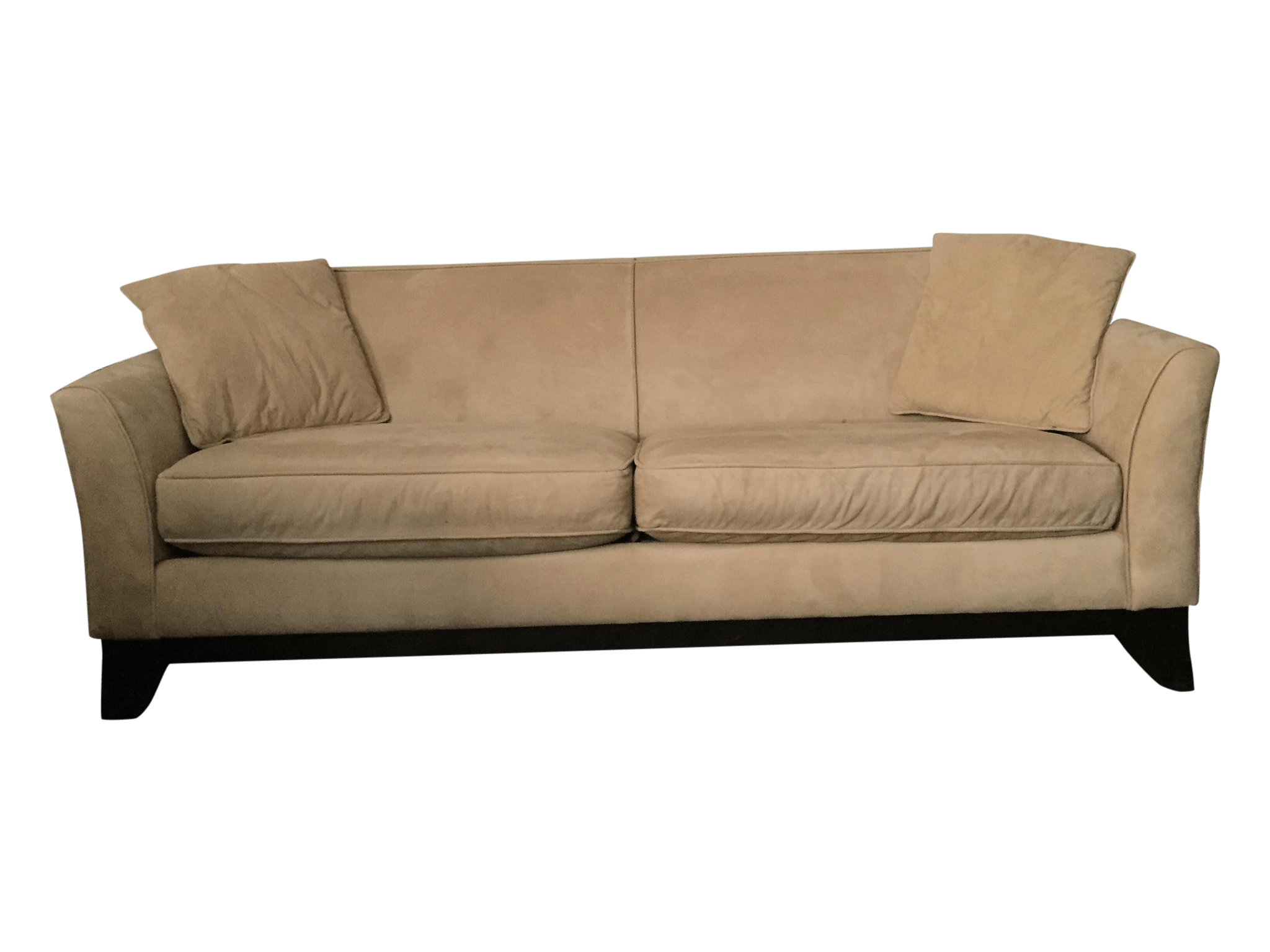pottery barn seabury sleeper sofa best mattress for bed suede chairish