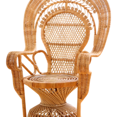 Vintage Wicker Rocking Chair Fishing Bed Argos Rattan And Peacock Chairish