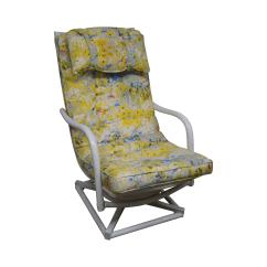 Ficks Reed Chair Wooden Step Stool Vintage Rattan Swivel Lounge Chairish
