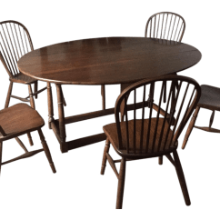 Unfinished Windsor Chairs Oxo Tot Sprout High Chair Replacement Tray Oval Solid Wood Drop Leaf Table And Chairish