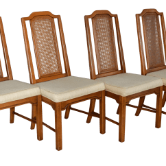 Retro Dining Chairs Ireland Director Chair Covers Walmart Vintage Dixie Chinoiserie Solid Wood Set