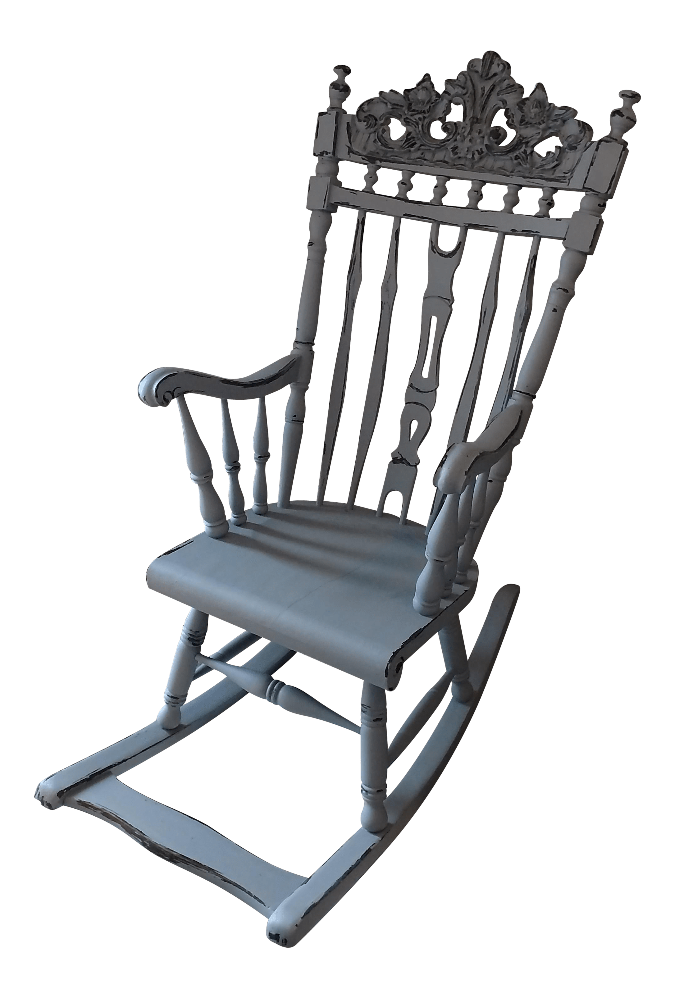 rocking chair footrest painted chairs antique with chairish