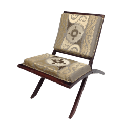 Folding Chair Embroidered Sashes For Rent Suzani Wood Chairish