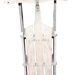 Metal Rocking Chair Runners Children S Seat Vintage Weathered Wood And Runner Sled Lightning