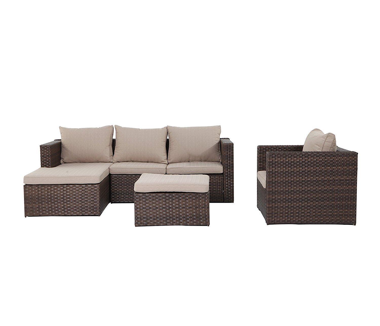 metal garden sofa sets scs bed burbank grand patio k d rattan outdoor set s 4