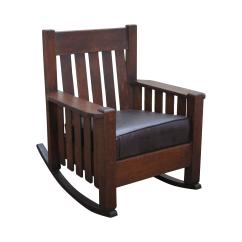 Mission Arm Chair High Pad Antique Oak Rocking Chairish