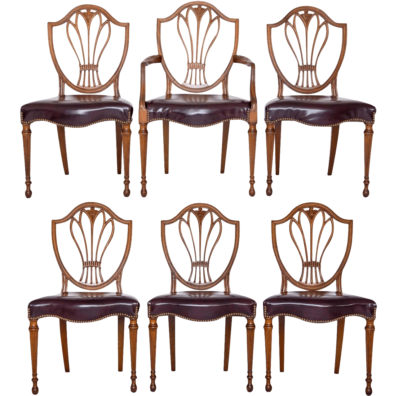 federal dining chairs hanging papasan chair with stand style shield back set of 6 chairish