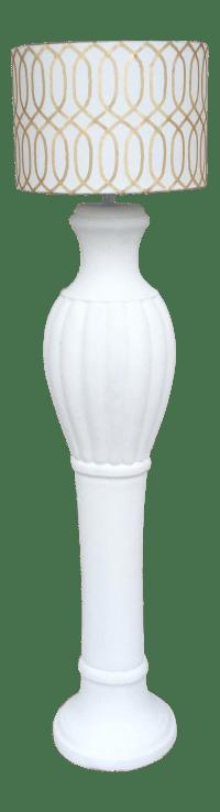 White Ceramic Floor Lamp | Chairish