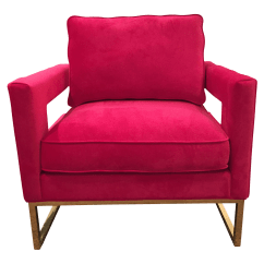 Hot Pink Chair Rent Tent And Chairs New Velvet Chairish