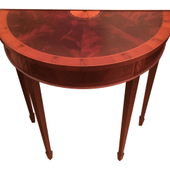 70 Inch Long Sofa Table Armrest Covers Uk Hekman Copley Place Mahogany Demilune Console Chairish