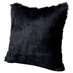 Hair On Hide Office Chair Restoration Hardware Wingback Charcoal Pillow Chairish